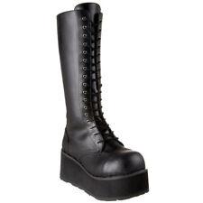 Bottes haute Demonia Trashville-502. Black vegan leather. Homme/unisex - Neuf