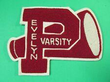Vintage Evelyn Varsity P Cheerleader Letterman Megaphone Jacket Patch