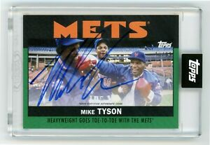 2021 Topps Mike Tyson On Card Auto /99 - Once Upon A Time In Queens - Mets!