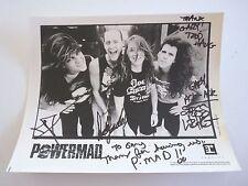 POWERMAD Vintage 1990 Band Autographed Signed 8x10 Photo PSA Guaranteed