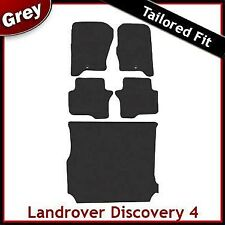 Landrover Discovery 4 (2009 2010 2011 2012) Tailored Fitted Car + Boot Mats GREY