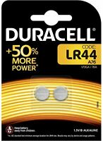 Duracell - Blister of 2 Battery LR44 A76 V13GA 1.5V Alkaline