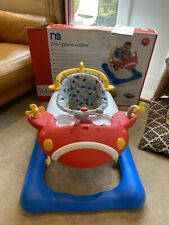 Mothercare 2 In 1 Plane Walker - Used But In Great Condition - In Original Box