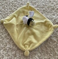 Burts Bees Baby Yellow Black White Crinkle Fleece Bee Lovey Security Blanket Toy