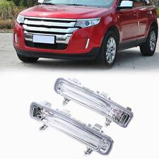 2x For Ford Edge SUV 2011-2014 LED Driving Daytime Fog Lamp DRL Day White Light