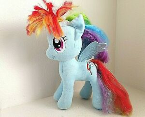 "Aurora World My Little Pony Rainbow Dash Pegasus Horse Blue Multicolor 13"" plush"
