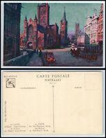 BELGIUM Postcard - Ghent, L'Eglise St. Nicholas le Beffroi & St. Bavon BZ8