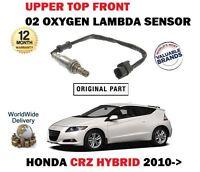 FOR HONDA CRZ 1.5i HYBRID 2010-> FRONT SUPERIOR PRE CAT 02 OXYGEN LAMBDA SENSOR