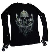 Spiral Waxed Skull, boat neck open sleeve top, official merch, alternative wear