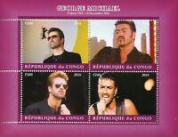 Congo 2018 CTO George Michael 4v M/S II Celebrities Popstars Music Stamps