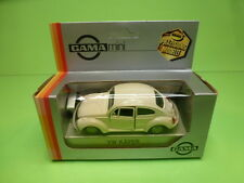 GAMA 1104 VW VOLKSWAGEN BEETLE 1302 - BROKEN WHITE 1:43 - VG CONDITION IN BOX
