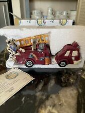 Blue Sky Clayworks Fire Truck with Dalmation by Heather Goldminc 1E Coa included