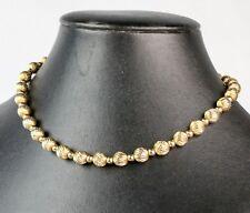 Vintage Napier Gold Tone Bead Choker Necklace
