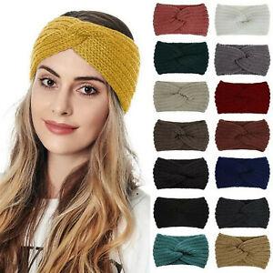 Stirnband Haarband Ohrwärmer Damen breit stretch Winter Kopfband Ohrenschützer