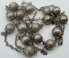 Aussergewöhnliche 800 Silber Kette 80 cm.(A113)