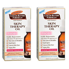 2 Pack Palmer's Cocoa Butter Formula Skin Therapy Oil for Face 1 oz Each
