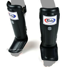 Fairtex Shin Guards Black Double Padded Shin Pads SP3 Kickboxing Muay Thai MMA
