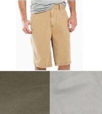 Arizona Mens Shorts Flat Front Cotton Twill Solid size 29 30 31 36 NEW