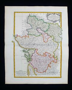 1785 ZANNONI: FRANCE, ANJOU, MAINE et LOIRE, ANGERS, SAUMUR, THOUET, TOURAINE