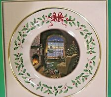 Lenox 2009 Cozy Christmas Holiday Plate Made in Usa New in Ivory Box 1st Quality