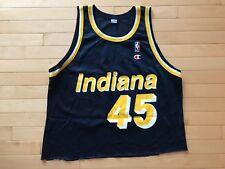 Rare VTG Champion NBA Indiana Pacers Rik Smits #45 Crop Top Jersey Sz 48 XL