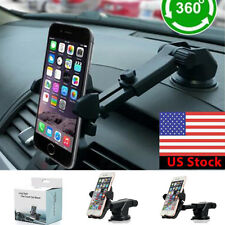 360Car Holder Windshield Mount Bracket F Mobile Cell Phone iPhone Samsung GPS US