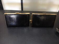 borse in pochette in lucertolone lucertola nera black pochettes elegante borsa