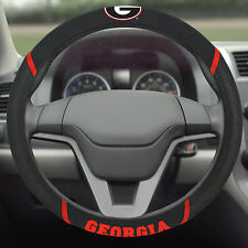 FANMATS University of Georgia Bulldogs Steering Wheel Cover Embroidered