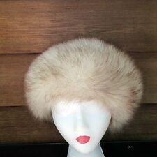 Jacobson's Miss Alice Genuine Fur Cossack Ushanka Style Hat Russian Silver