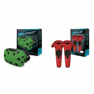 Hyperkin GelShell Headset Silicone Skin for HTC Vive Green & GelShell Control...