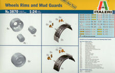Italeri 1/24 Wheel Rims and Mud Guards # 3870