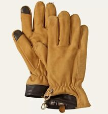 NWT Timberland Men's L Touch Screen Tan Goat Leather Gloves