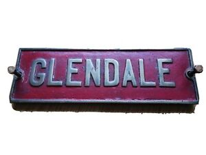 Brass 'Glendale' Name Plaque