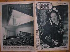 RADIO CINE TEATRO VARIETA' 16/17 1946 JEAN KENT ROSSELLINI ASTOR CINEMA TORINO