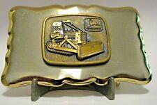 John Deere 450B Crawler Tractor Dozer Bulldozer Belt Buckle w/ 1968 Trademark