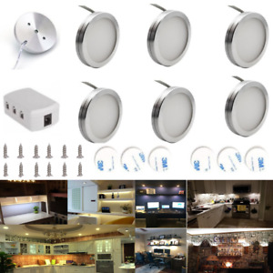 3/6x LED Under Cabinet Lighting Kitchen Light Cupboard Unit Kit Counter Wardrobe