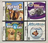 Nintendo DS Video Game Lot 4 Games *Petz-Dogs & Cats-Kitten-Aquarium All Rated E