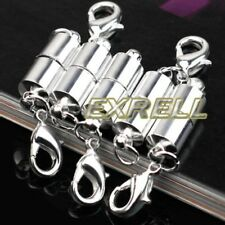 5Pcs Silver Plated Metal Strong Magnetic Necklace Clasp For Jewelry Making DIY