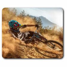 Alfombrilla Ratón de ordenador-Mountain Bike Dirt Biker Divertido Regalo de Oficina #2748