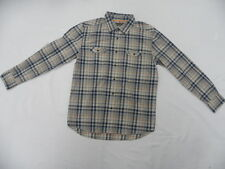 Quiksilver Waterman Collection Burgess Kennet Bay Blue Button Front Shirt Large