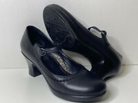 Dansko Size US 8.5-9 EU 39 Bett Black Nappa Heels Mary Janes Leather