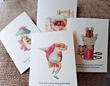 Set of 4 Blank Beatrix Potter Peter Rabbit C6 Note/Greetings Cards & Envelopes