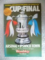 1978 FA Cup FINAL Programme ARSENAL v IPSWICH TOWN, 6 May (VG, Org*)