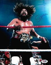Sika The Wild Samoans Signed WWE 8x10 Photo PSA/DNA COA MSG NY Picture Autograph