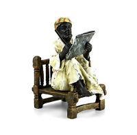 Wiener Bronze - Arabischer Gelehrter - zweiteilig - Araber Figur - gestempelt