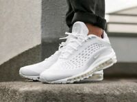 Nike Air Max Deluxe Platinum White, Genuine Authentic Mens Trainers All Size