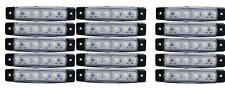 15 piezas x 24v 6 luces LED INTERMITENTE LATERAL BLANCO Iveco Volvo DAF SCANIA