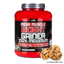 6,38€/kg  BWG Mega Muscle Weight Gainer 5000g, Cookies + Cream, 5kg, Eiweiß