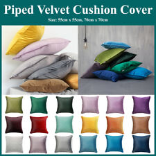 Luxury Piped Velvet Throw Cushion Covers Pillow Case Squar Scatter by Hansure