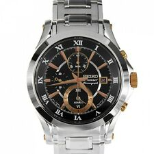 Seiko Premier Chronograph Stainless Steel Men's Watch SNAF20P1